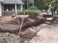 1. Het slopen van de oude tuin